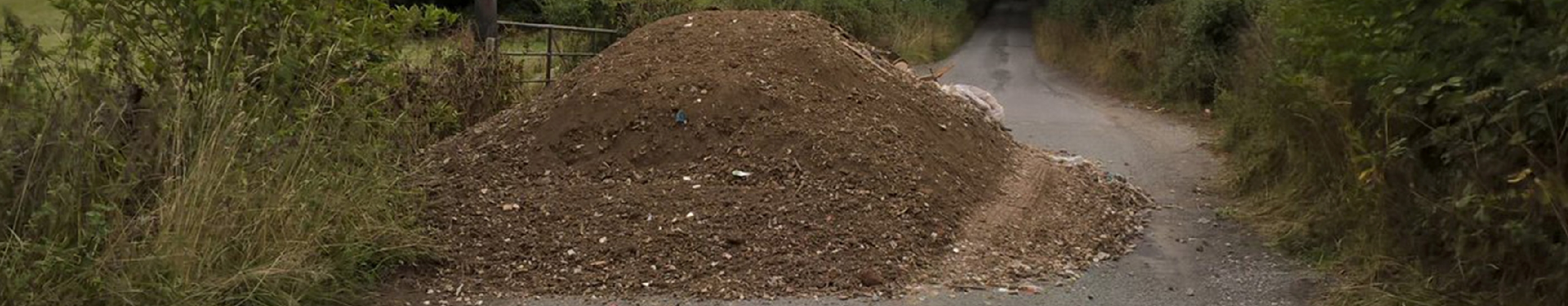 Fly tipped soil